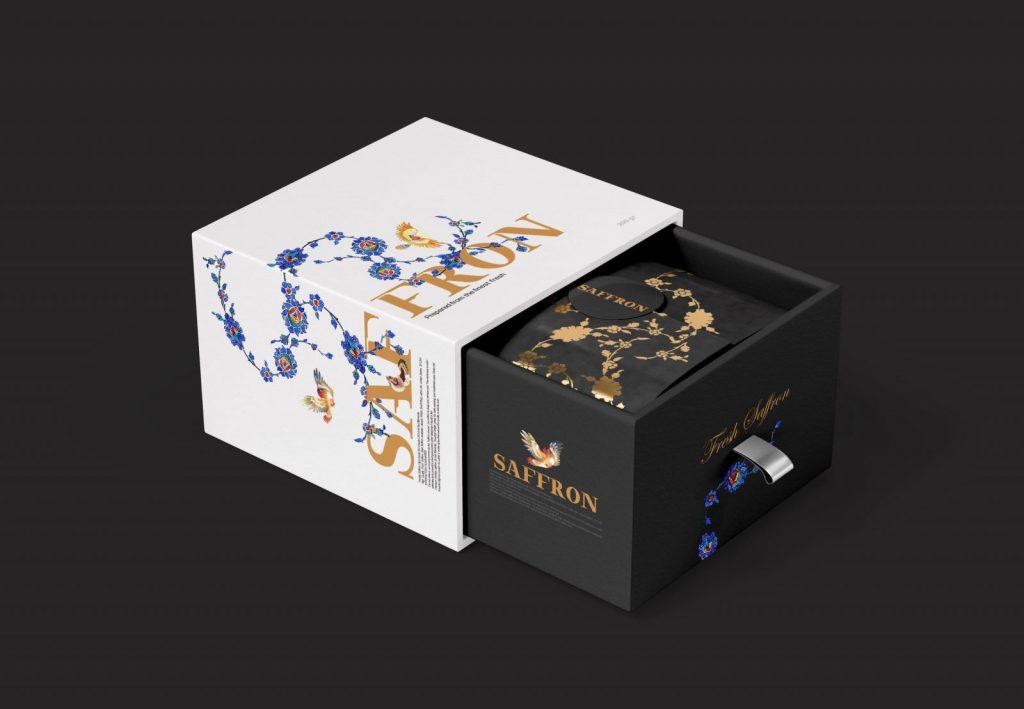 طراحی بسته بندی زعفران و نکات کلیدی