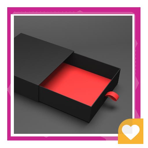 جعبه کشویی مشکی قرمز