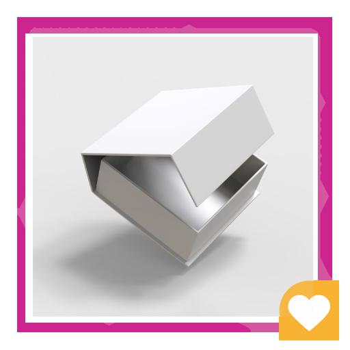 جعبه سه بعدی سفید